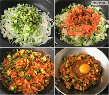 Paso A Paso Sarten De Verduras Y Huevo