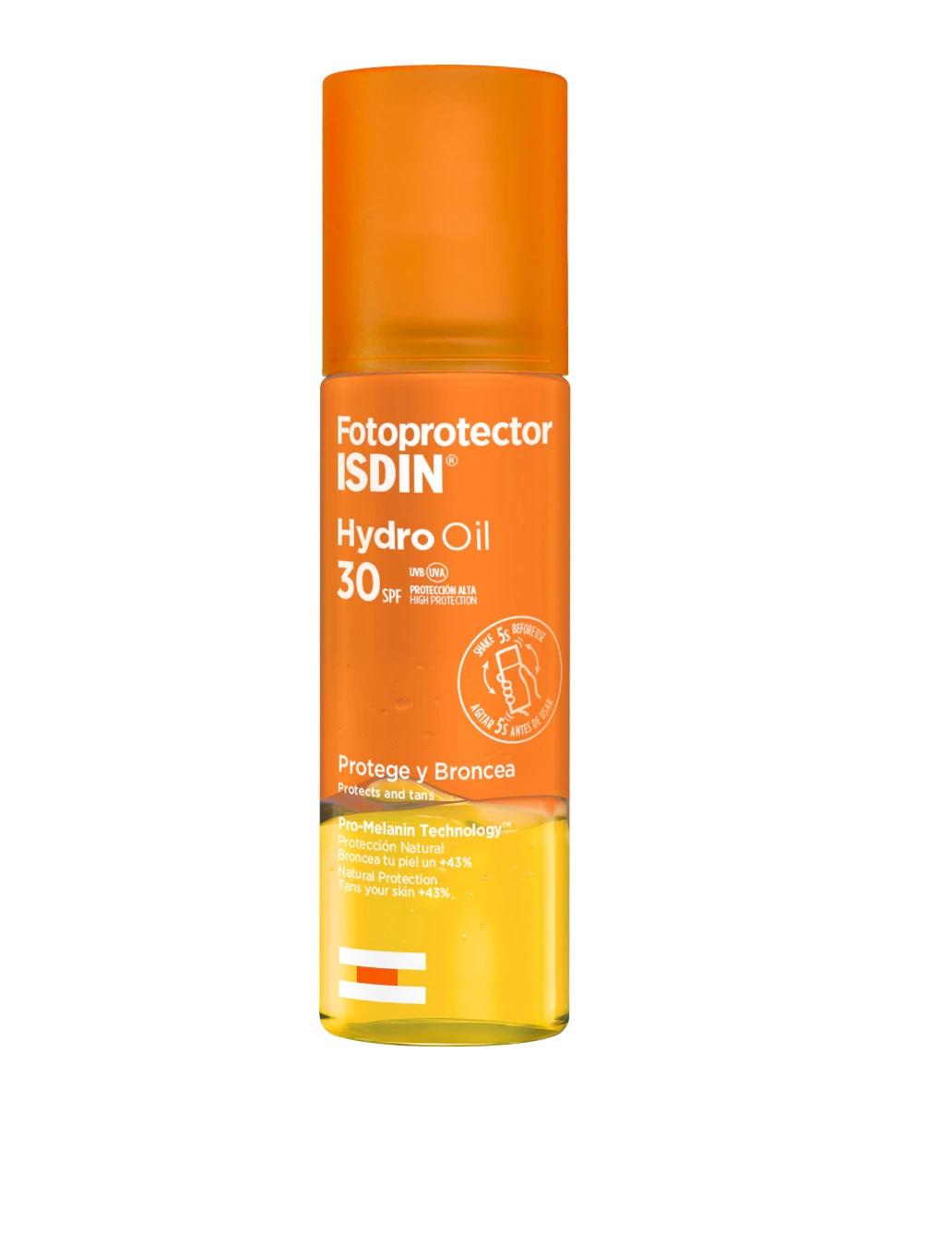 Aceite acuoso con SPF30 potenciador de bronceado de ISDIN