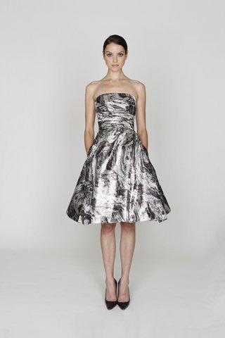 Monique Lhuillier Pre-Fall 2012: la inconfundible elegancia del blanco y negro