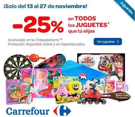 En Carrefour tienes un 25% de descuento en todos los juguetes hasta el 27 de noviembre