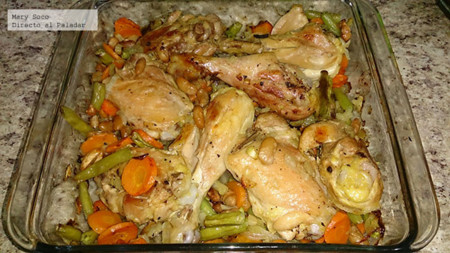 Cacerola de pollo y vegetales. Receta