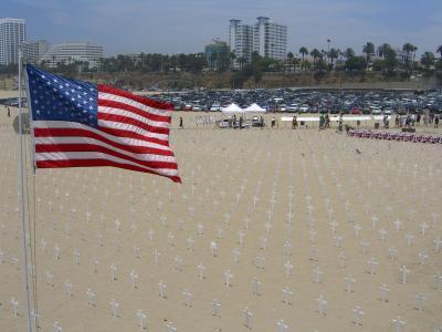 Cementerio en la playa de Santa Mónica