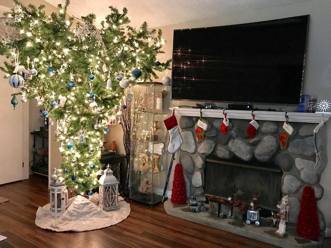 arbol navidad revés decoración