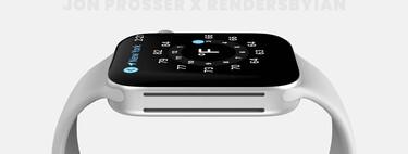 Estos 'renders' muestran el rediseño plano del Apple Watch Series 7 y sus cinco colores, según Prosser