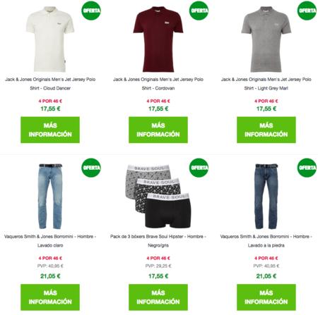 Compra múltiple en Zavvi: 4 prendas por 46 euros a elegir entre vaqueros, camisetas, bañadores o sudaderas