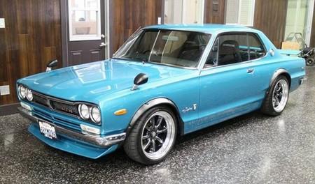 1972 Nissan Skyline Front Blue