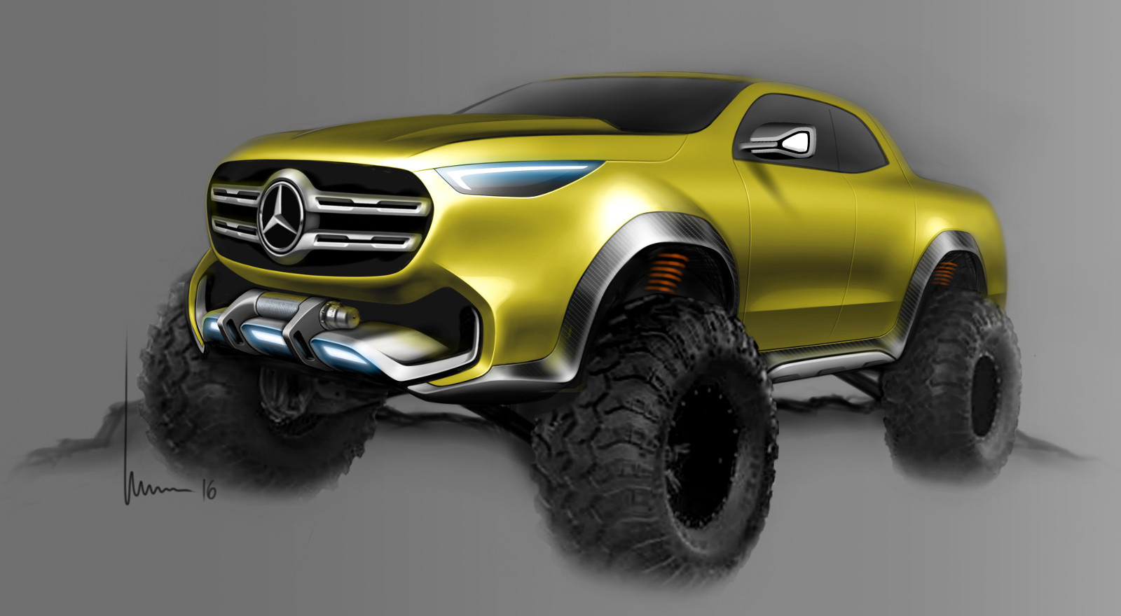 Foto de Mercedes-Benz Concept Clase X - bocetos (6/7)