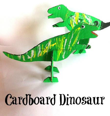 Manualidades Dinosaurios Carton