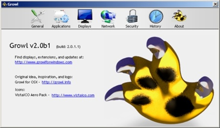 Growl for Windows, el port del notificador de OS X es muy inestable