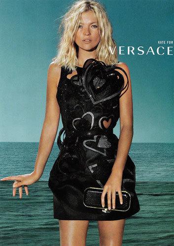 Kate Moss en la campaña de Versace Primavera-Verano 2009