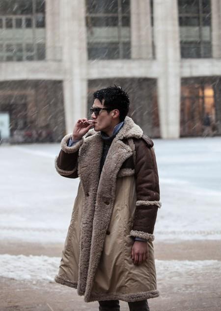 El Mejor Street Style De La Semana Chaqueta Abrigo Borreguillo Shearling Jacket 07