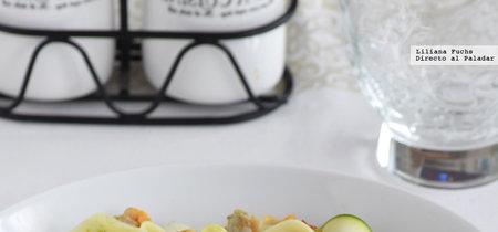 Cintas de calabacín con berberechos. Receta ligera y saludable