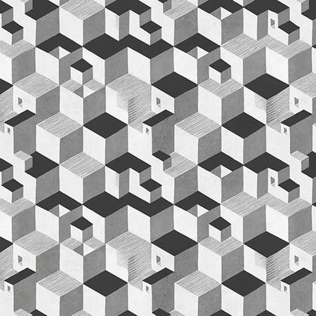 Papel Pintado Janelli Volpi Mc Escher Cube 23151