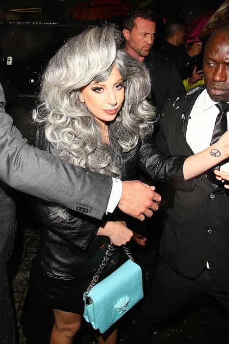 Lady Gaga Pelo Gris