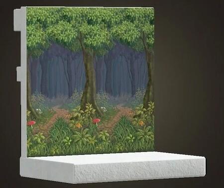 Animal Crossing New Horizons Set Champinon Pared Bosque