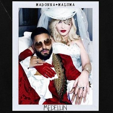 Madonna y Maluma, esa extraña (y muy provocadora) pareja, unidos en el videoclip de 'Medellín' que apuesta por la moda española
