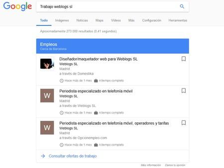 Trabajo Weblogs Sl