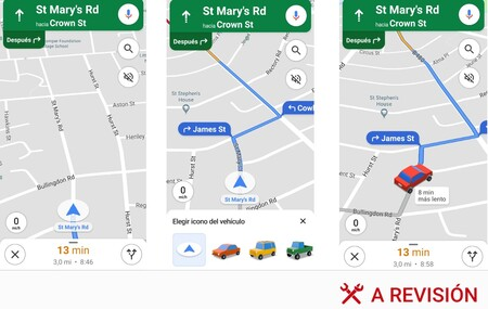 Cómo cambiar la flecha azul de Google Maps por uno de estos tres coches en 3D