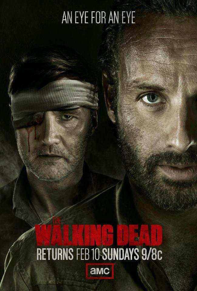 Imagen con el cartel de 'The Walking Dead', temporada 3