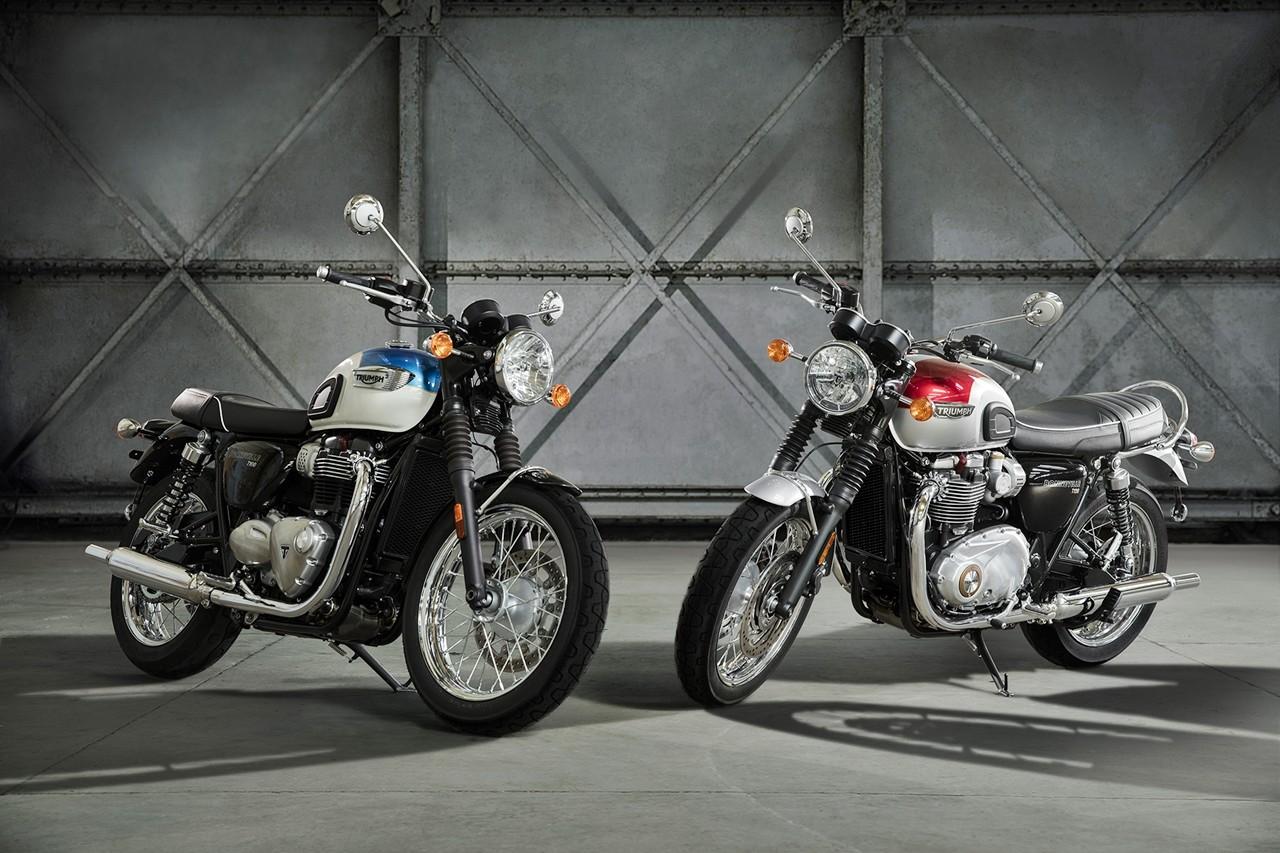 Foto de Triumph Bonneville T100 y T100 Black y Triumph Street Cup (1/50)