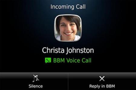 BBM Voice, llamadas en BBM