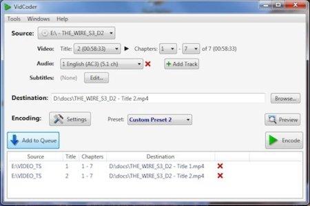 Ripea tus DVDs fácilmente con VidCoder