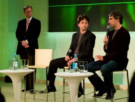Larry Page, Sergei Brin y Eric Schmidt