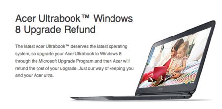 Acer va a hacerse cargo de las actualizaciones a Windows 8 de sus Ultrabooks