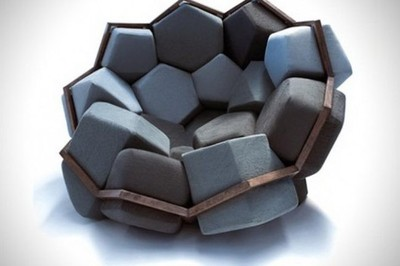 Quartz chair, o como diseñar un sillón como si fueran los cubos de Ibarrola