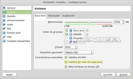 Configuración máquina virtual