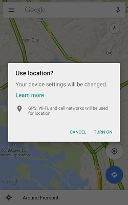 Location Settings Dialog