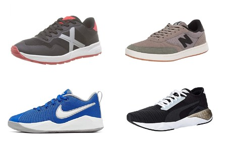 Chollos en tallas sueltas de zapatillas Munich, Nike, Puma o New Balance en Amazon