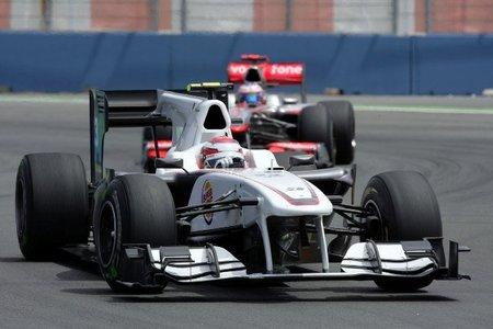 Kamui Kobayashi en el Gran Premio de Europa 2010
