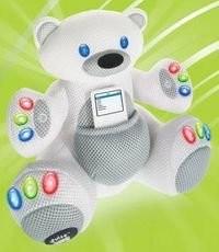 Osito de peluche con altavoces para el iPod