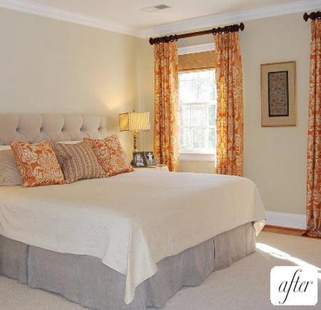 El mismo dormitorio después del cambio.