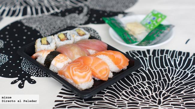Prueba sushi, bandeja