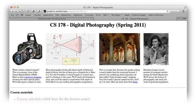 Curso de fotografía de la Universidad de Stanford, un buen recurso para conocer aspectos técnicos