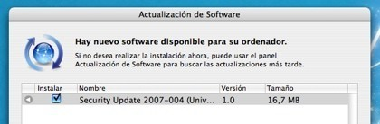 Actualización de seguridad 2007-004 para Mac OS X