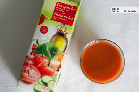 Comparativa gazpachos de marca blanca - auchan alcampo