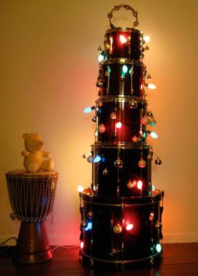 Árbol de Navidad para músicos