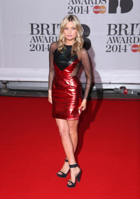 Laura Whitmore Brit Awards 2014