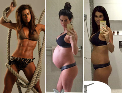 Una conocida monitora de fitness muestra su cuerpo dos días después de dar a luz a gemelas