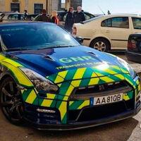 El flamante Nissan GT-R de la policía portuguesa tiene una misión: el transporte urgente de órganos