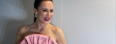 Aitana Sánchez Gijón luce el perfecto look de invitada de boda de tarde durante la gala de los Premios Forqué 2021