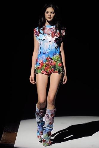 El estampado floral dominará la Primavera-Verano 2010: vestidos para tomar nota, Maison Martin Margiela