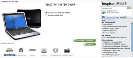 Dell Mini 9, ya oficial