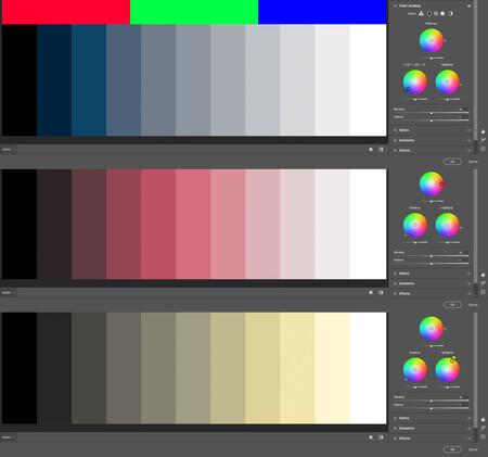 herramienta color grading en photoshop camera raw