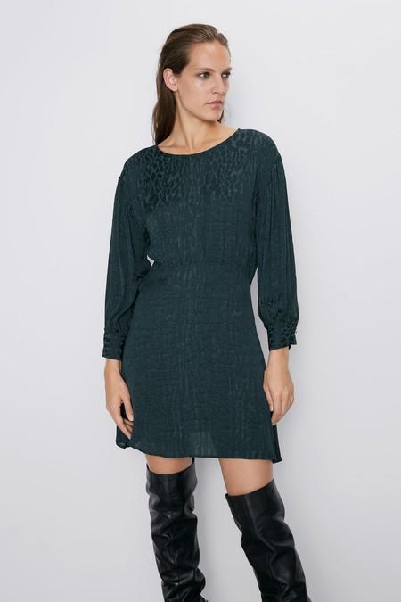 Vestido Jacquard Zara 07