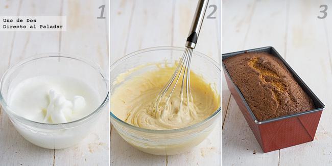 Bizcocho esponjoso de nata y limón. Receta