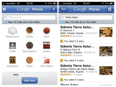 Google Places con Hotpot para iPhone ya disponible